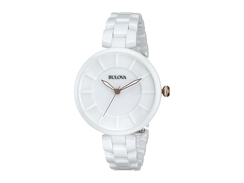 Bulova - Ladies Dress - 98L196 (White) Dress Watches