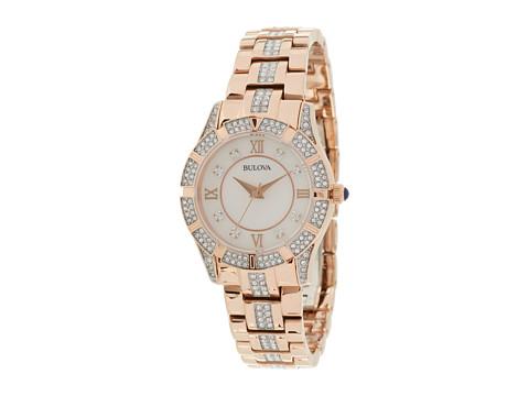 Bulova Ladies Crystal - 98L197 (Rose) Watches