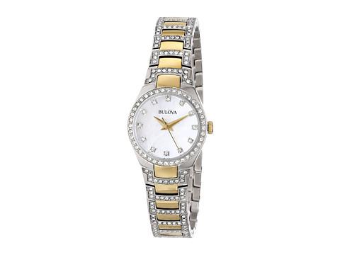 Bulova Ladies Crystal - 98L198 (Two Tone) Watches
