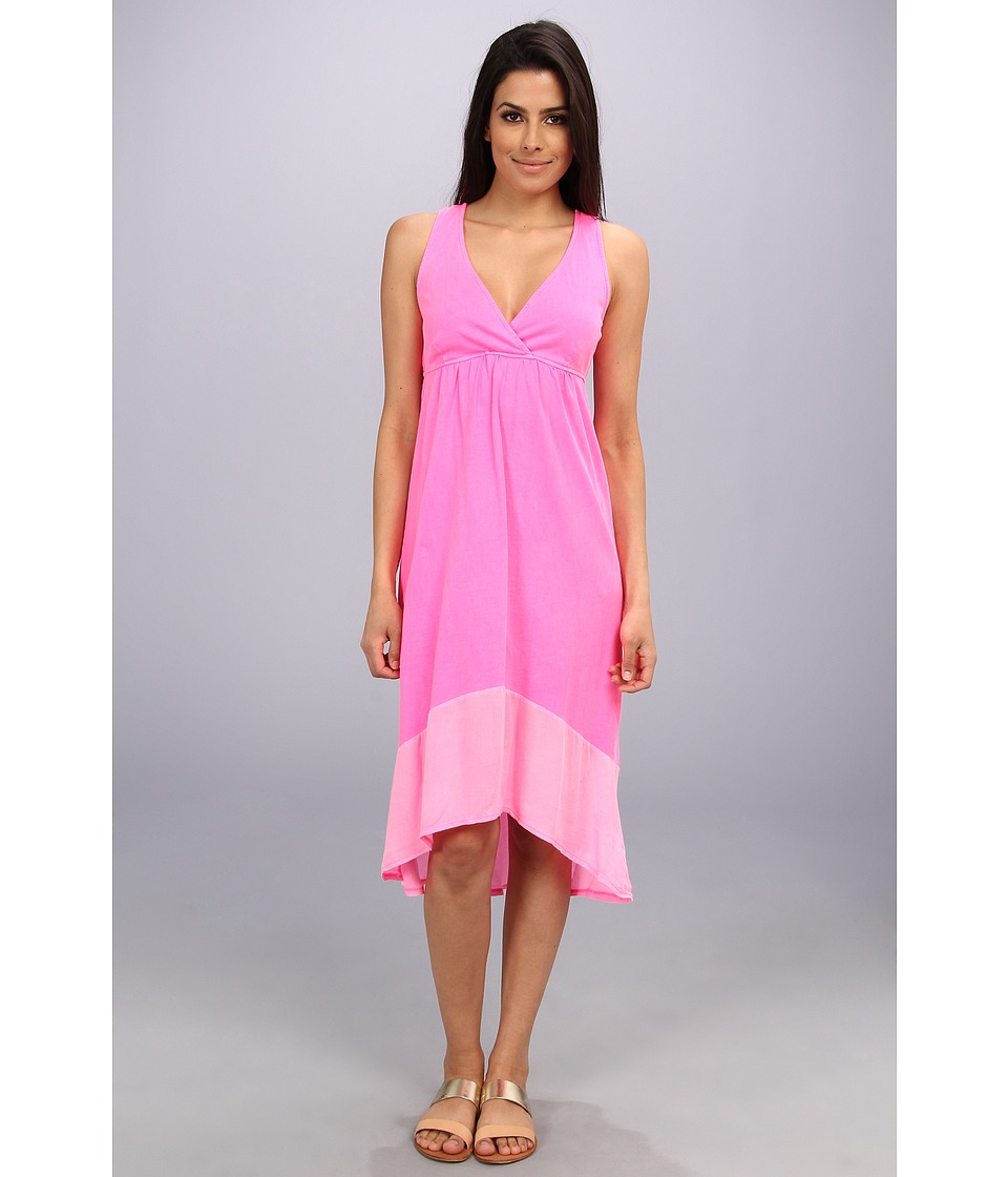LAmade Crepe Blocking Tie Layer Dress (Bellini) Women