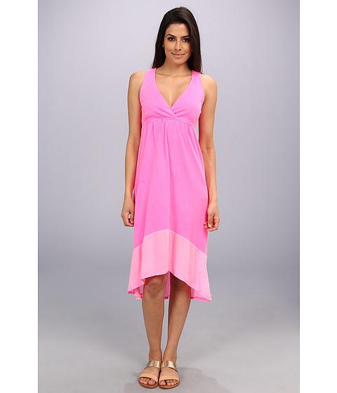 LAmade - Crepe Blocking Tie Layer Dress (Bellini) Women's Dress