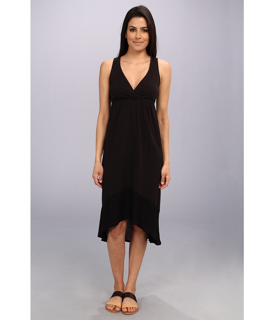 LAmade - Crepe Blocking Tie Layer Dress (Black) Women's Dress