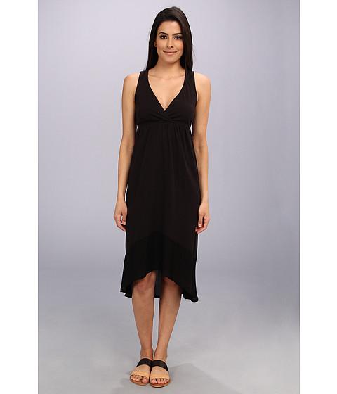 LAmade - Crepe Blocking Tie Layer Dress (Black) Women
