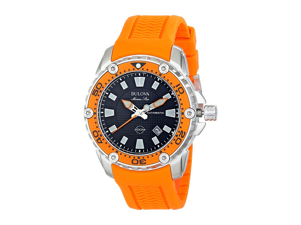 Bulova - Mens Marine Star - 98B207 (Orange) Watches