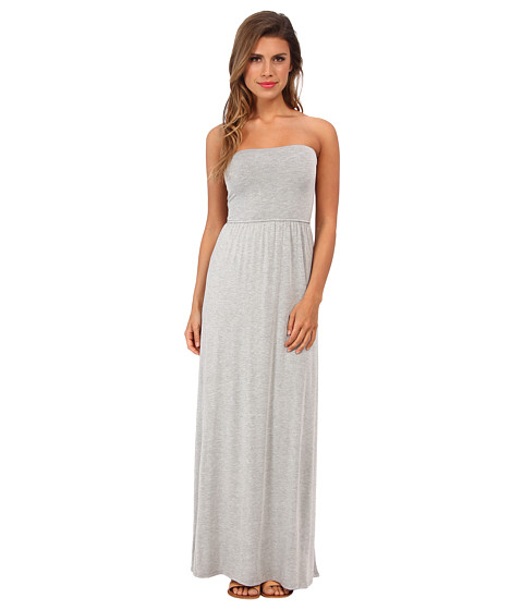 LAmade - Convertible Tube Dress w/ Maxi Skirt (Heather) Women's Dress