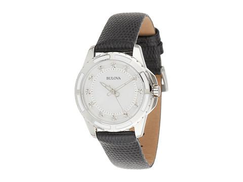 Bulova Ladies Diamonds - 98P139 (Black Strap) Watches