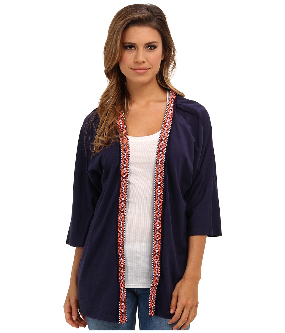 LAmade - Boho Trim Open Jacket (Midnight) Women's Sweater