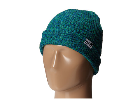 Neff - Fold Heather Beanie (Blue/Slime) Beanies
