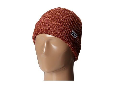 Neff - Fold Heather Beanie (Orange/Raspberry) Beanies
