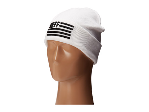 Neff - Flagged Beanie (White) Beanies