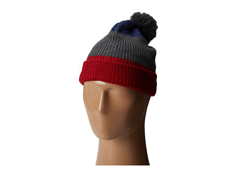 Neff - Snappy Beanie (Red/Grey/Navy) Beanies