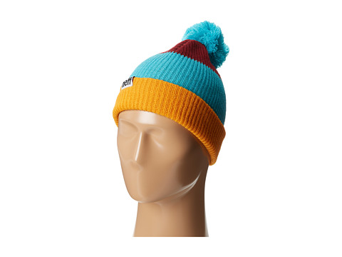 Neff - Snappy Beanie (Orange/Teal/Maroon) Beanies