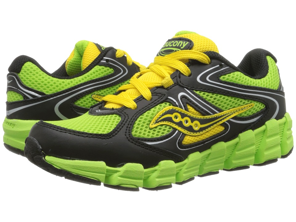 Saucony Kids - Kotaro (Little Kid) (Slime/Black/Yellow) Boys Shoes