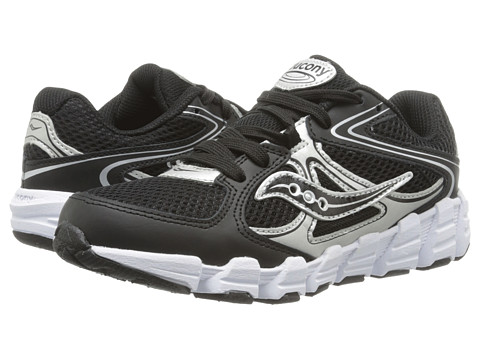 Saucony Kids - Kotaro (Little Kid) (Black/Silver) Boys Shoes