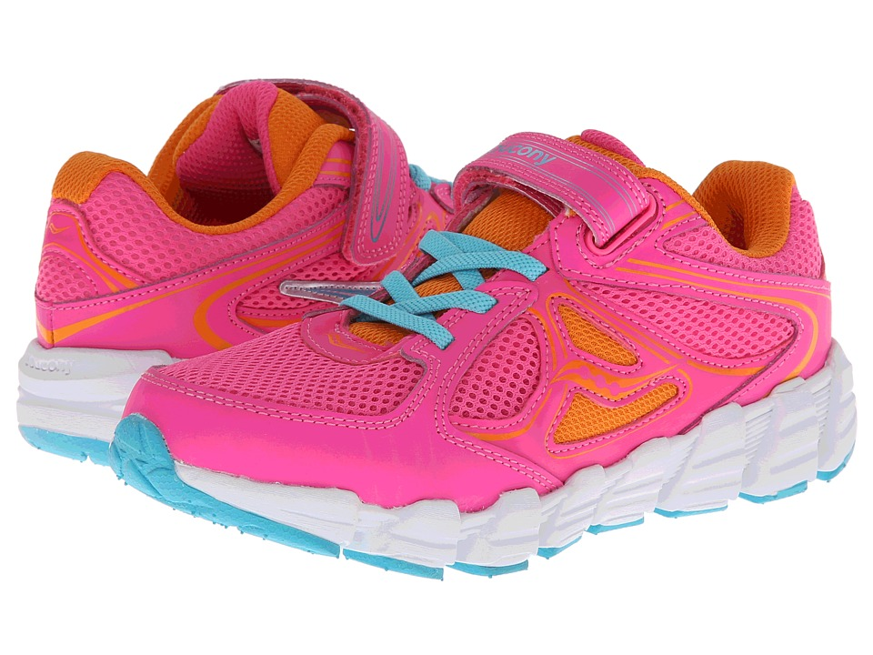 Saucony Kids - Kotaro A/C (Little Kid) (Pink/Orange/Blue) Girls Shoes