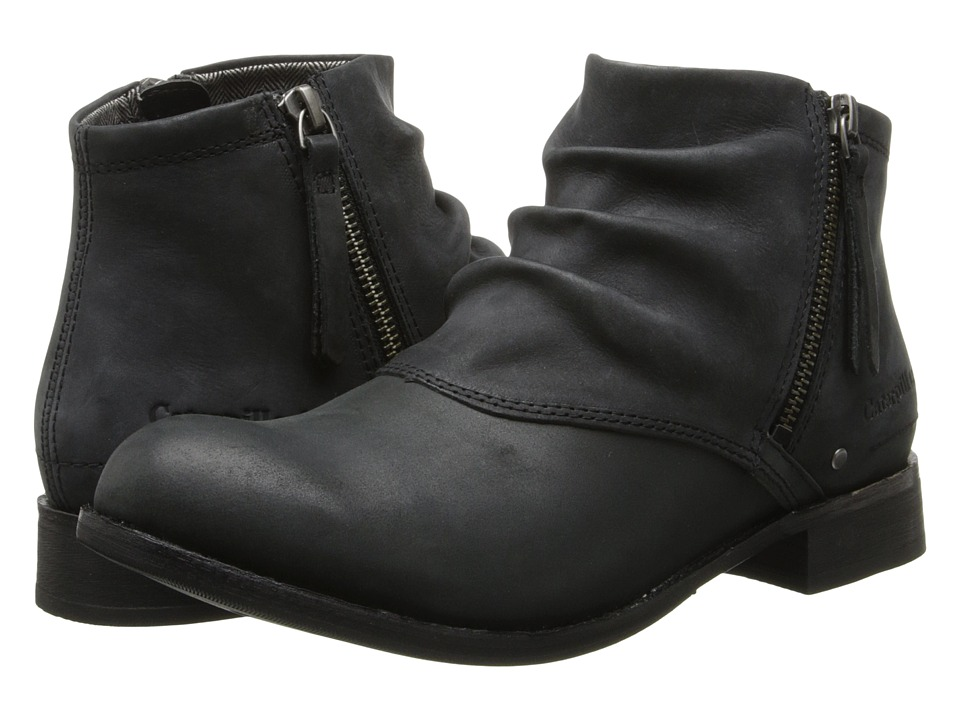Caterpillar Casual - Irenea (Black Leather/Black Nubuck) Women's Zip Boots
