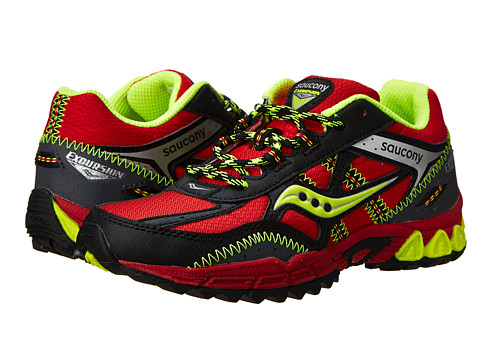 UPC 044208427009 product image for Saucony Excursion Lace Red/Black/Citron,  Size 2.5