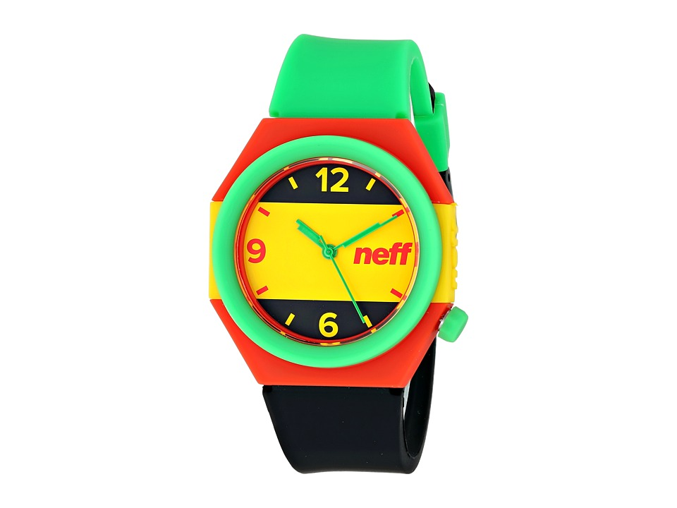Neff - Stripe Watch (Rasta) Watches