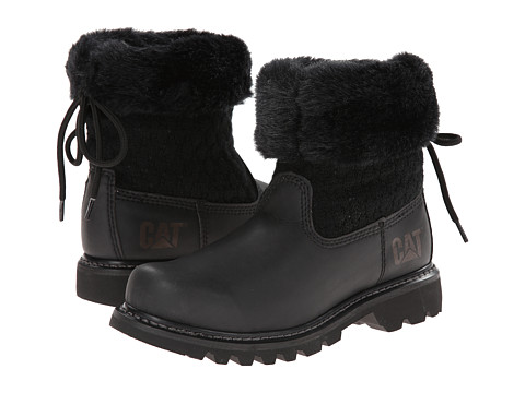 Caterpillar Casual - Bruiser Scrunch Fur (Black/Black) Women