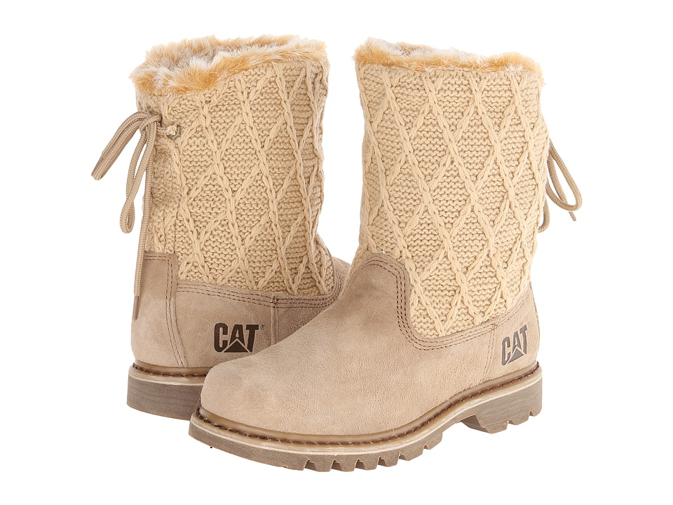 Caterpillar Casual - Bruiser Scrunch Fur (Houndawg/Beige) Women's Boots