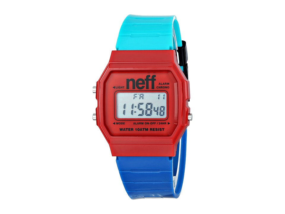 Neff - Flava XL (Red/Blue/Teal) Watches