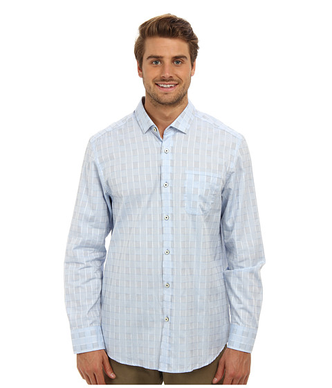 Tommy Bahama - Island Modern Fit Empire View L/S Shirt (Sailfish) Men