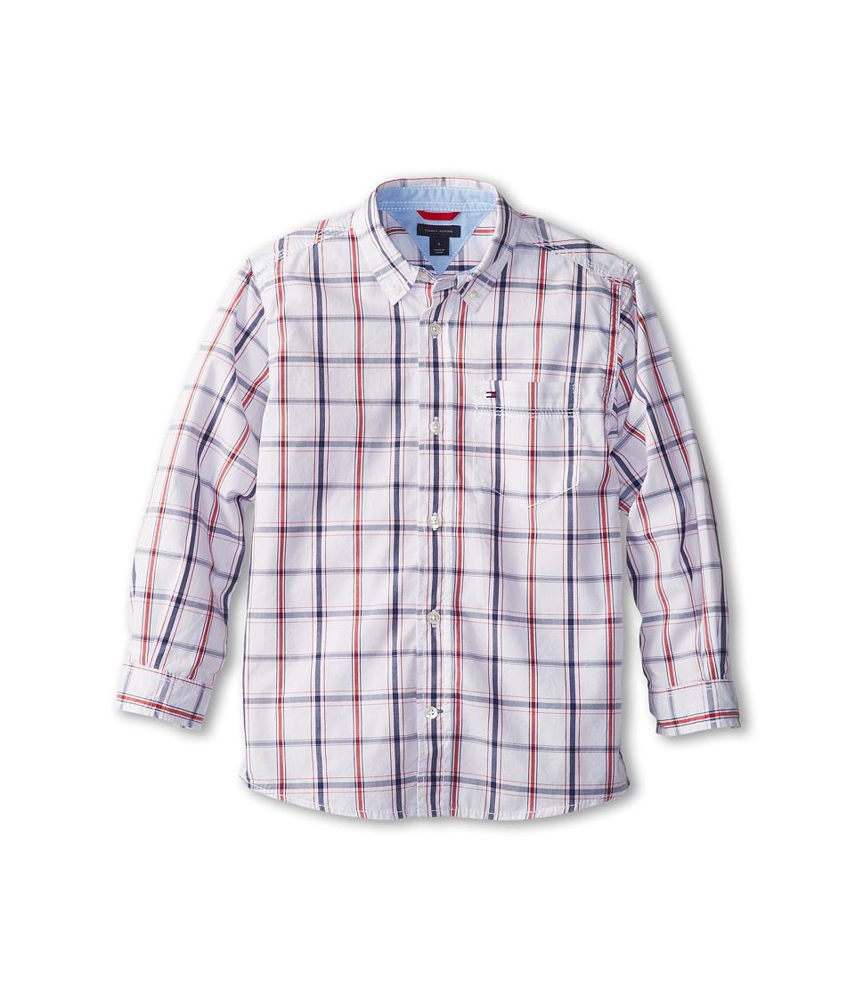 Tommy Hilfiger Kids - Samuel Plaid Shirt (Toddler/Little Kids) (Classic White) Boy's Long Sleeve Button Up