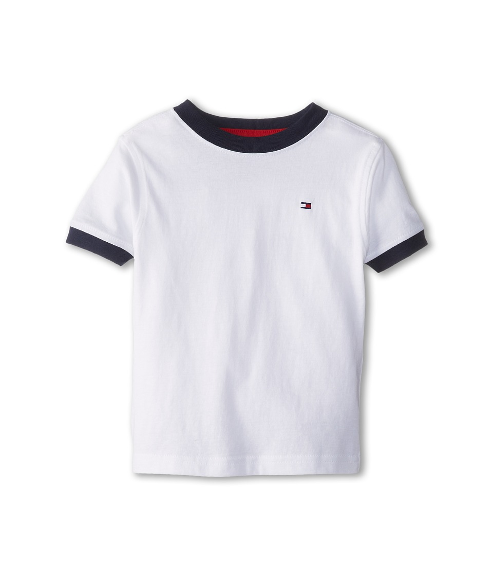Tommy Hilfiger Kids - Ken Tee (Toddler/Little Kids) (Classic White) Boy's T Shirt