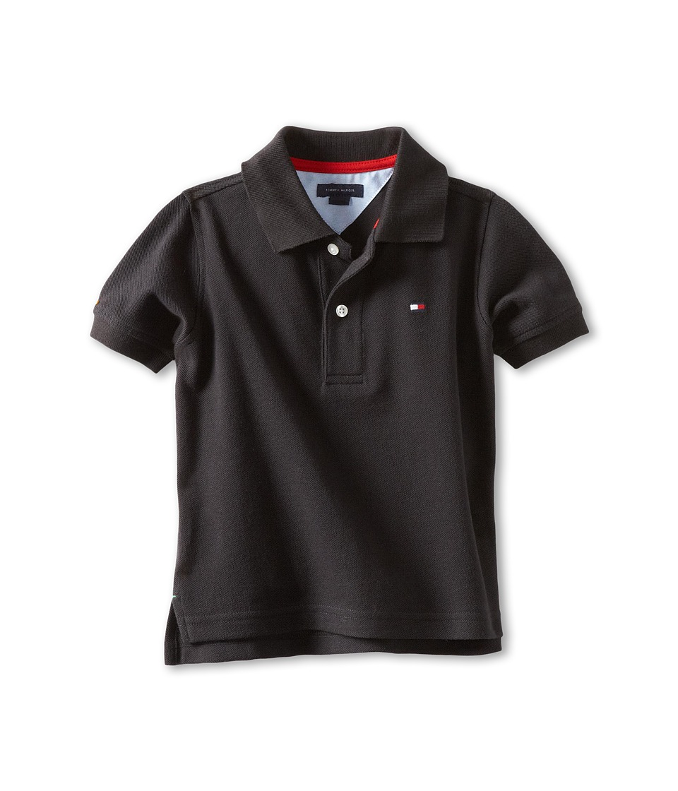 Tommy Hilfiger Kids - Ivy Polo (Toddler/Little Kids) (Tommy Black) Boy's Short Sleeve Pullover