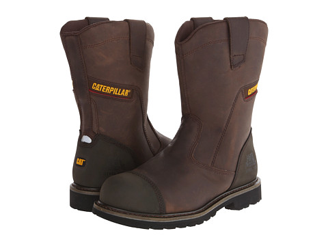 Caterpillar - Highland (Dark Brown) Men's Work Pull-on Boots