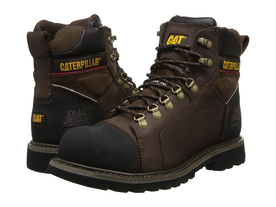 Caterpillar - Tracklayer 6 (Dark Brown) Men's Work Lace-up Boots