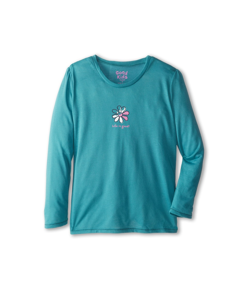 Life is good Kids - Daisy Sleep Long Sleeve (Toddler/Little Kid/Big Kid) (Turquoise Blue) Girl's Pajama