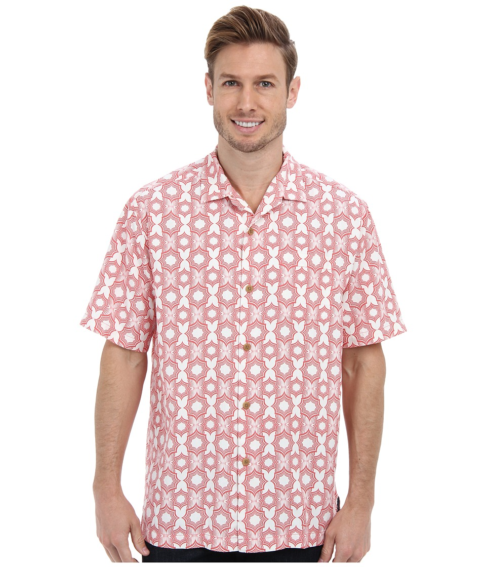 Tommy Bahama - Tile Effect S/S Camp Shirt (Havana) Men's Short Sleeve Button Up