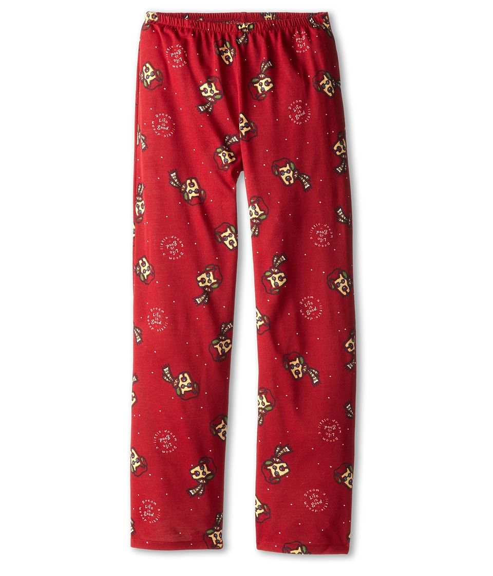 Life is good Kids - Rocket Sleep Pant (Toddler/Little Kid/Big Kid) (Holiday Red) Girl's Pajama