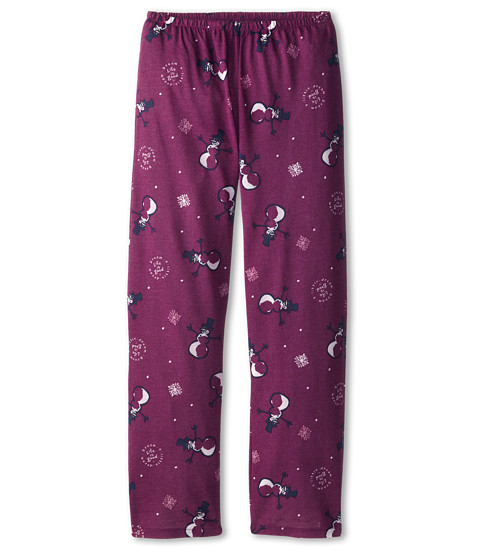 Life is good Kids - Snowman Sleep Pant (Toddler/Little Kid/Big Kid) (Perfect Plum) Girl