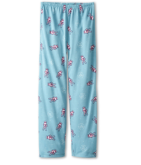 Life is good Kids - Peace Sleep Pant (Toddler/Little Kid/Big Kid) (Turquoise Blue) Girl's Pajama