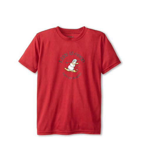 Life is good Kids - Get on Board Sleep Tee (Toddler/Little Kid/Big Kid) (Holiday Red) Boy
