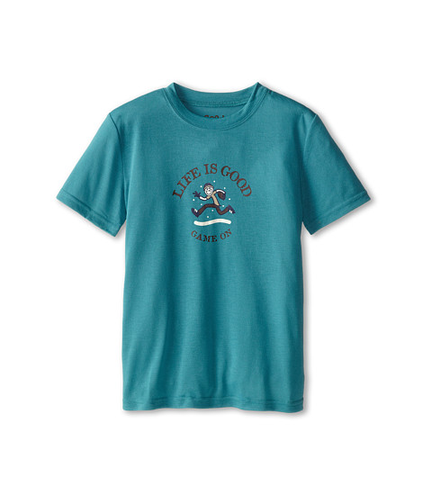 Life is good Kids - Game On Sleep Tee (Toddler/Little Kid/Big Kid) (Turquoise Blue) Boy