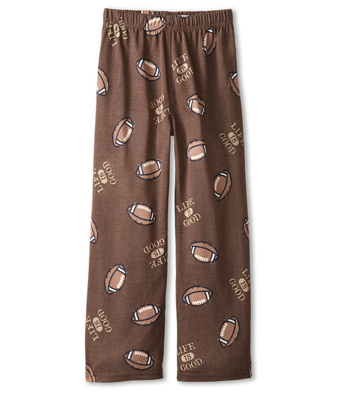 Life is good Kids - Football Sleep Pant (Toddler/Little Kid/Big Kid) (Oak Brown) Boy's Pajama