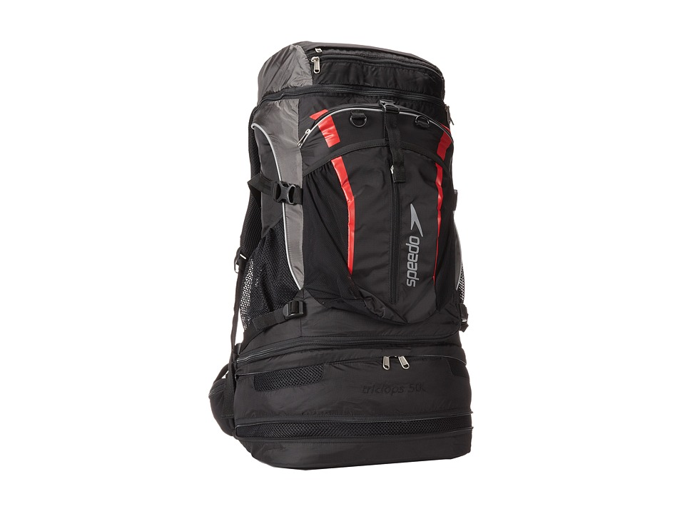 Speedo - Tri Clops Backpack 50L (Black/Gray/Red) Backpack Bags