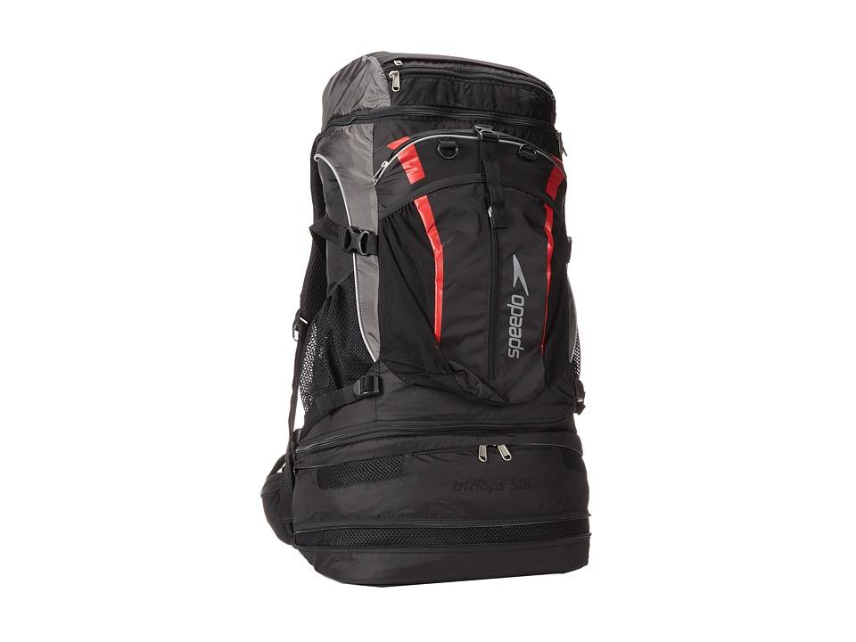 Speedo - Tri Clops Backpack 50L (Black/Gray/Red) Backpack Bags