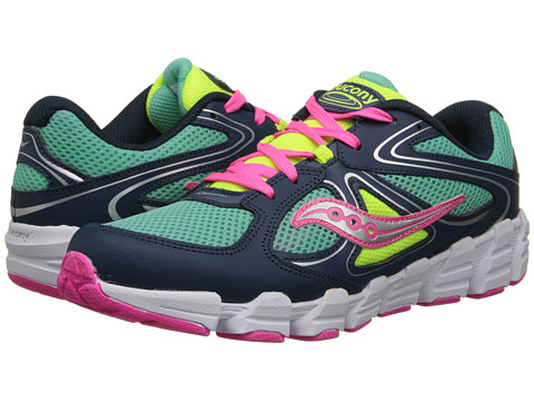 Saucony Kids - Kotaro (Big Kid) (Turquoise/Navy/Pink) Girls Shoes