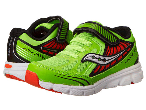 Saucony Kids - Baby Kinvara 5 (Toddler/Little Kid) (Slime/Red) Boys Shoes