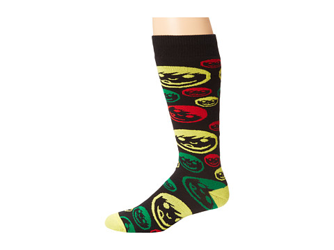 Neff - Corpo Sucker Snow Sock (Rasta) Knee High Socks Shoes