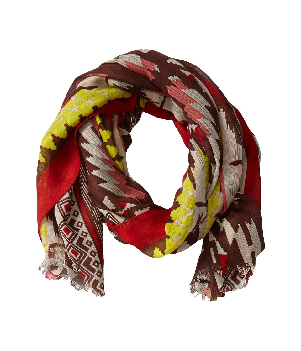 San Diego Hat Company - BSS1506OS Aztec Print Scarf w/ Frayed Edge (Multi Brown) Scarves