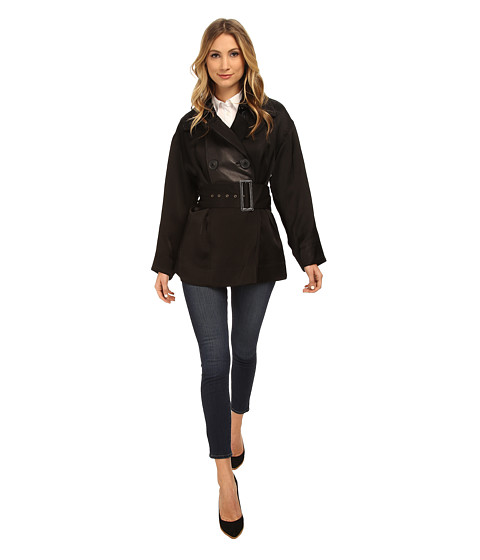 Vivienne Westwood Anglomania - Short Malady Peacoat (Black) Women's Coat