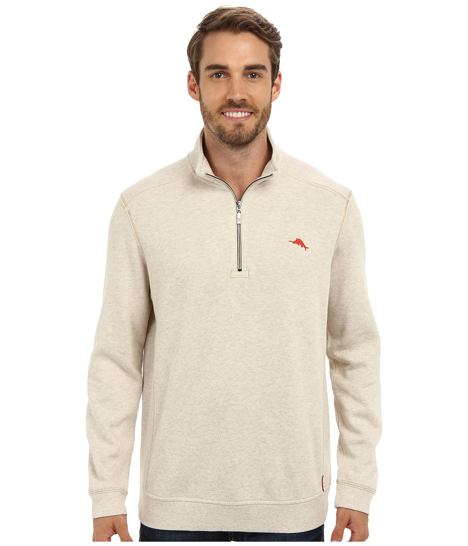 Tommy Bahama - Antigua Half Zip Sweatshirt (Sand Heather) Men's Sweatshirt
