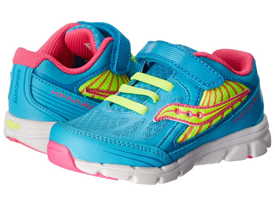 Saucony Kids - Baby Kinvara 5 (Toddler/Little Kid) (Blue/Pink/Citron) Girls Shoes