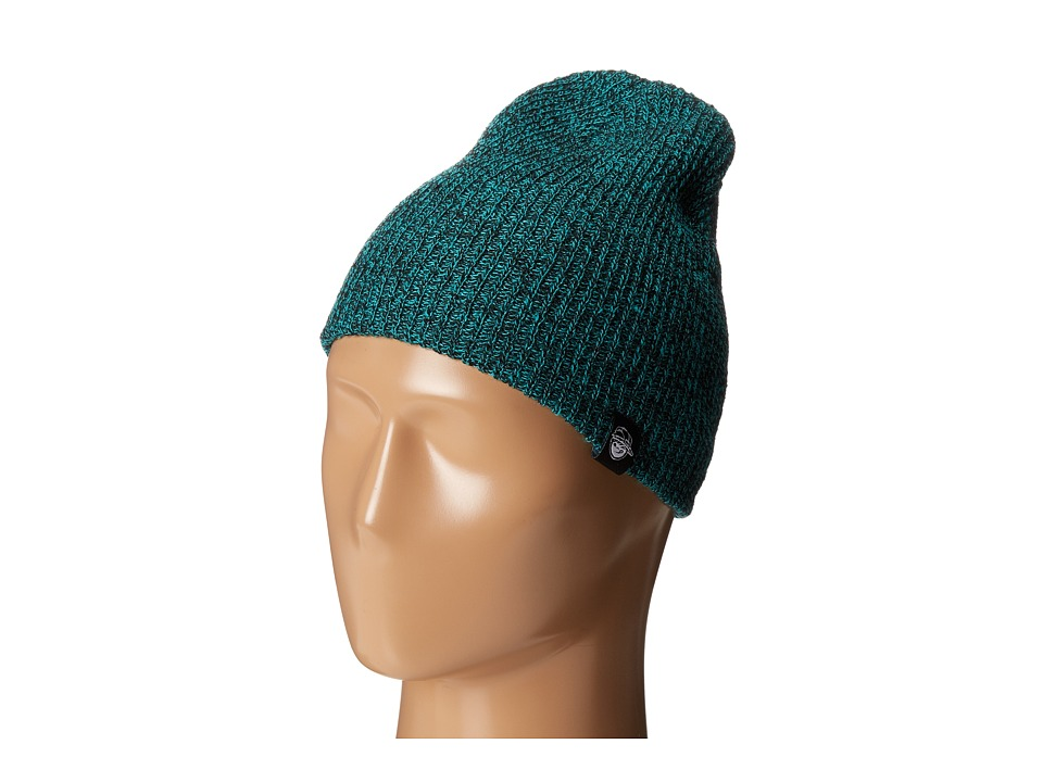 Neff - Daily Heather Beanie (Youth) (Black/Green) Beanies