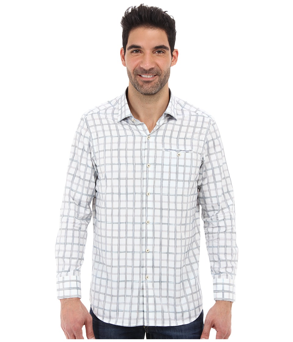 Tommy Bahama - Island Modern Fit Basket Space L/S Shirt (White) Men's Long Sleeve Button Up
